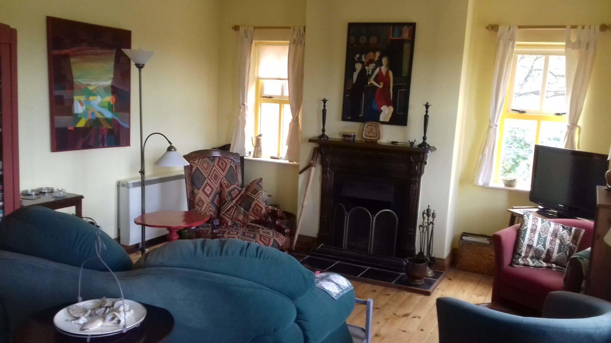 Manannan Cottage woonkamer