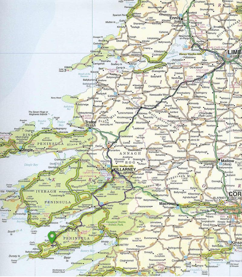 Plattegrond Ierland - Manannan Cottage